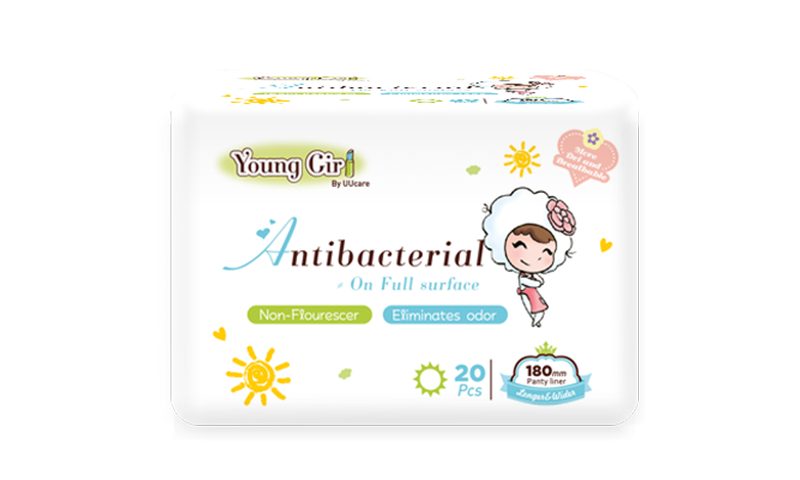 Young Girl Antibacterial Washable Pad 180mm 20pcs